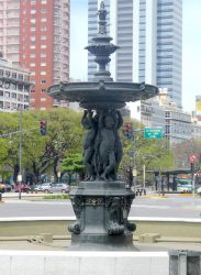 Fuente – Fontaine des Continents – Plazoleta Provincia de Misiones – Buenos Aires