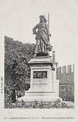Monument à Jacqueline Robins – Saint-Omer (fondu)