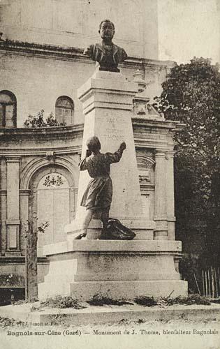 Monument Joseph Thome Bagnols Sur C Ze
