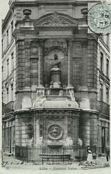 Fontaine monumentale avec buste de Vallon – Lille