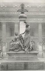 Monument à Emile Augier – Paris, 6e arr. (fondu)