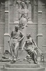 Monument à Jean-Baptiste Boussingault – Cour du Cnam – Saint-Denis