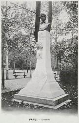 Monument à Frédéric Chopin – Jardin du Luxembourg – Paris (75006) (fondu – remplacé)