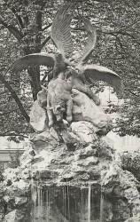 Aigle et vautour se disputant un ours – Paris (75009) (fondu)
