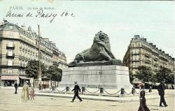Lion et médaillon Denfert-Rochereau – Paris (75014)