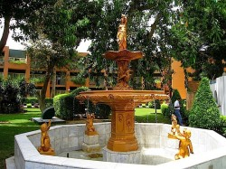 Grande fontaine – Gezireh Palace (hôtel Marriott) – Le Caire