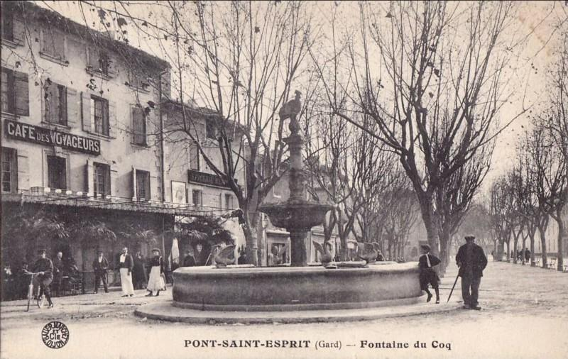 Fontaine du coq pont saint esprit - Office du tourisme pont saint esprit ...