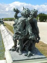 Un enfant et deux amours – Parterre d'eau – Bassin Nord –  Jardins du château – Versailles