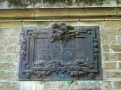 Plaque commémorative – Parc de Procé – Nantes