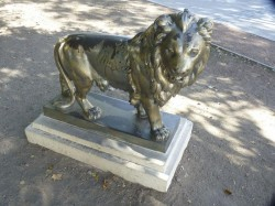 Lion debout – Plaza Independencia, Tandil