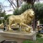 Leones, con bola de cañon (2) - paire de lions à la boule - Oruro - Image2