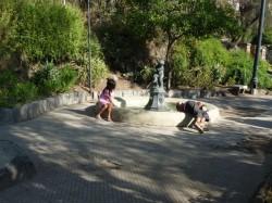 fontaine de l'Enfant à la Rame – Cerro Santa Lucia – Santiago de Chile
