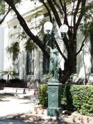 Statue Torchère – Ex Congreso nacional – Santiago de Chile