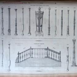 DUC_VO_PL036_37_F110 – Pilastres pour rampes d'escalier