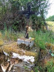 Croix – sentier de randonnée vers le Bosc – Saint-Antonin-Noble-Val