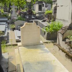 Croix de la tombe Vandermersch – Cimetière du Père-Lachaise – Paris (75020)