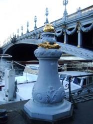 Bites d'amarrage – Pont Alexandre III – Paris (75008)