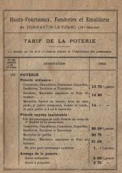 DOM_1899_PL00 – Couverture page 3 – Tarif de la poterie