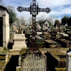 Croix funéraire de la sépulture Coupy-Clemencey – Cimetière du Père-Lachaise – Paris (75020)