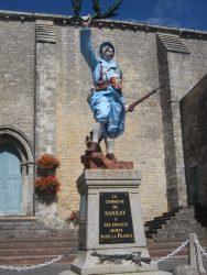 Poilu victorieux – Monument aux morts – Sanxay