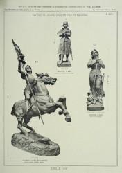 VO_MM_PL627_F – Statue de Jeanne d'Arc en pied et équestre