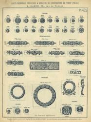 TU_DUCH_1896_PL463 – Patères, frises funéraires, couronnes, sabliers, console