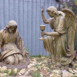 christ agenouillé et ange Saint-Georges-sur-Cher