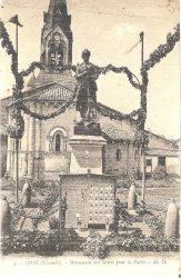 Monument aux Morts de la guerre de 14-18 (détruit) (remplacé ?) – Izon