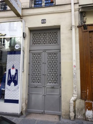 Ornements  de porte – 49 rue Meslay – Paris (75003)