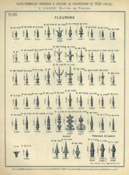 TU_DUCH_1896_PL202 – Fleurons, lances, faisceaux de lances