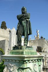 Statue d'Alexandre Herzen – Cimetière du Château – Nice