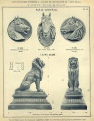 TU_DUCH_1896_PL373_03-III – Têtes de chevaux, lions assis