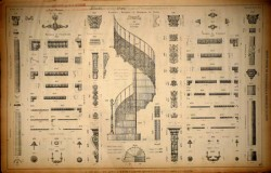 DUC_VO_PL063_64_F76 – Escaliers, moulures et ornements de portes