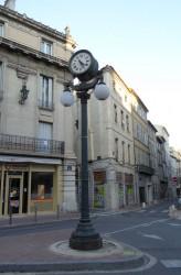 Lampadaire – Horloge  – place Carnot – Avignon