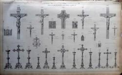 DUC_VO_PL245_F496 – Croix et flambeaux d'autel, Christ montés sur bois