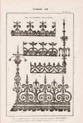 DUR_1889_PL225 – Frises de couronnement, épis et faitière