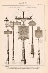 DUR_1889_PL346 – Candélabre porte-affiches et poteaux indicateurs