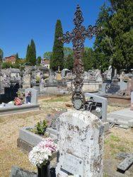 Croix à l'ange au phylactère (2) – Cimetière de la Ville – Cahors