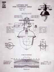 DUR_ECL_PL66 – Lanterne fixe pour suspension axiale