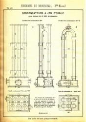 BROU_1923_PL048 – Condensateurs à jeu d'orgue avec tuyaux de 0,080 m de diamètre