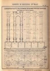 BROU_1923_PL049 – Condensateur à jeu d'orgue de 20 mètres de surface avec tuyaux de 0,108 m de diamètre