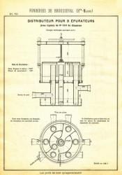 BROU_1923_PL070 – Distributeur pour 3 épurateurs avec tuyaux de 0,150 m de diamètre