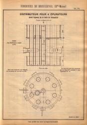 BROU_1923_PL071 – Distributeur pour 4 épurateurs avec tuyaux de 0,200 m de diamètre