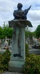 Buste A. Pégoud – Cimetière du Montparnasse – Paris (75014)