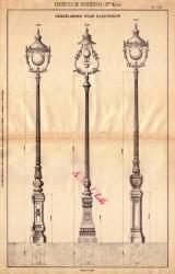 BROU_1923_PL121 – Candélabres pour électricité