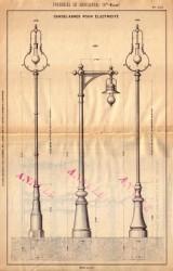 BROU_1923_PL122 – Candélabres pour électricité