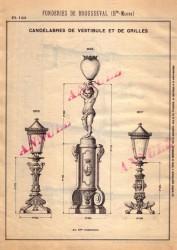 BROU_1923_PL124 – Candélabres de vestibule et de grilles