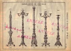 BROU_1923_PL125 – Candélabres de vestibule, girandoles pour lampes