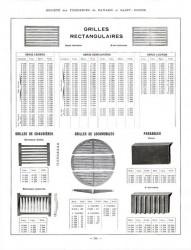 BAY_F4_PL306 – Grilles rectangulaires, de chaudières, de locomobiles, paraboles