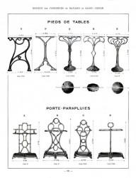 BAY_F4_PL324 – Pieds de tables, porte-parapluies